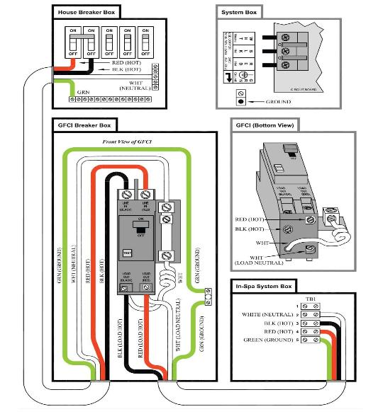 4 Wire Spa Wiring Diagram | Wiring Diagram  Wire Volt Wiring Diagram on